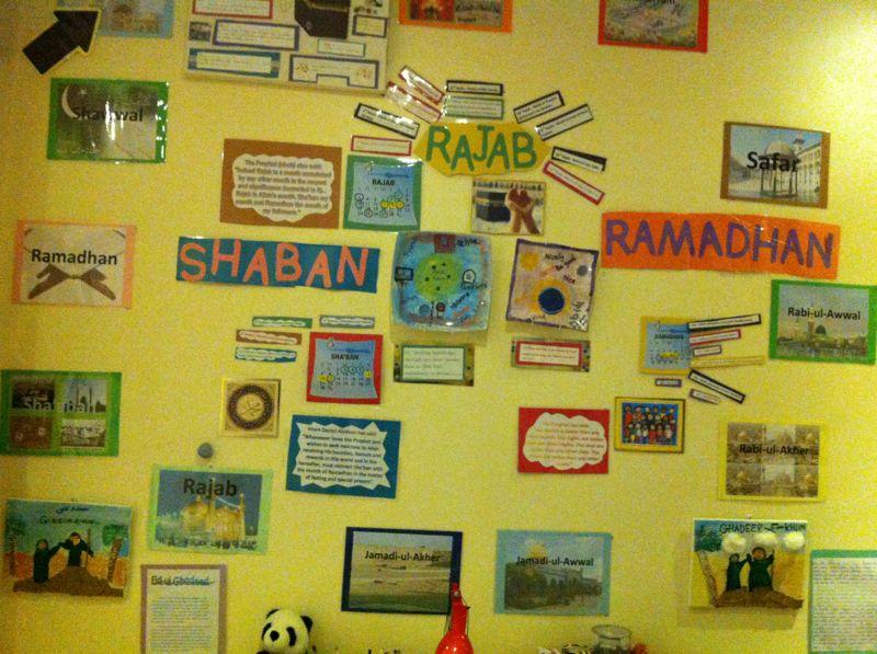It's Rajab! Idea 1: Make a display