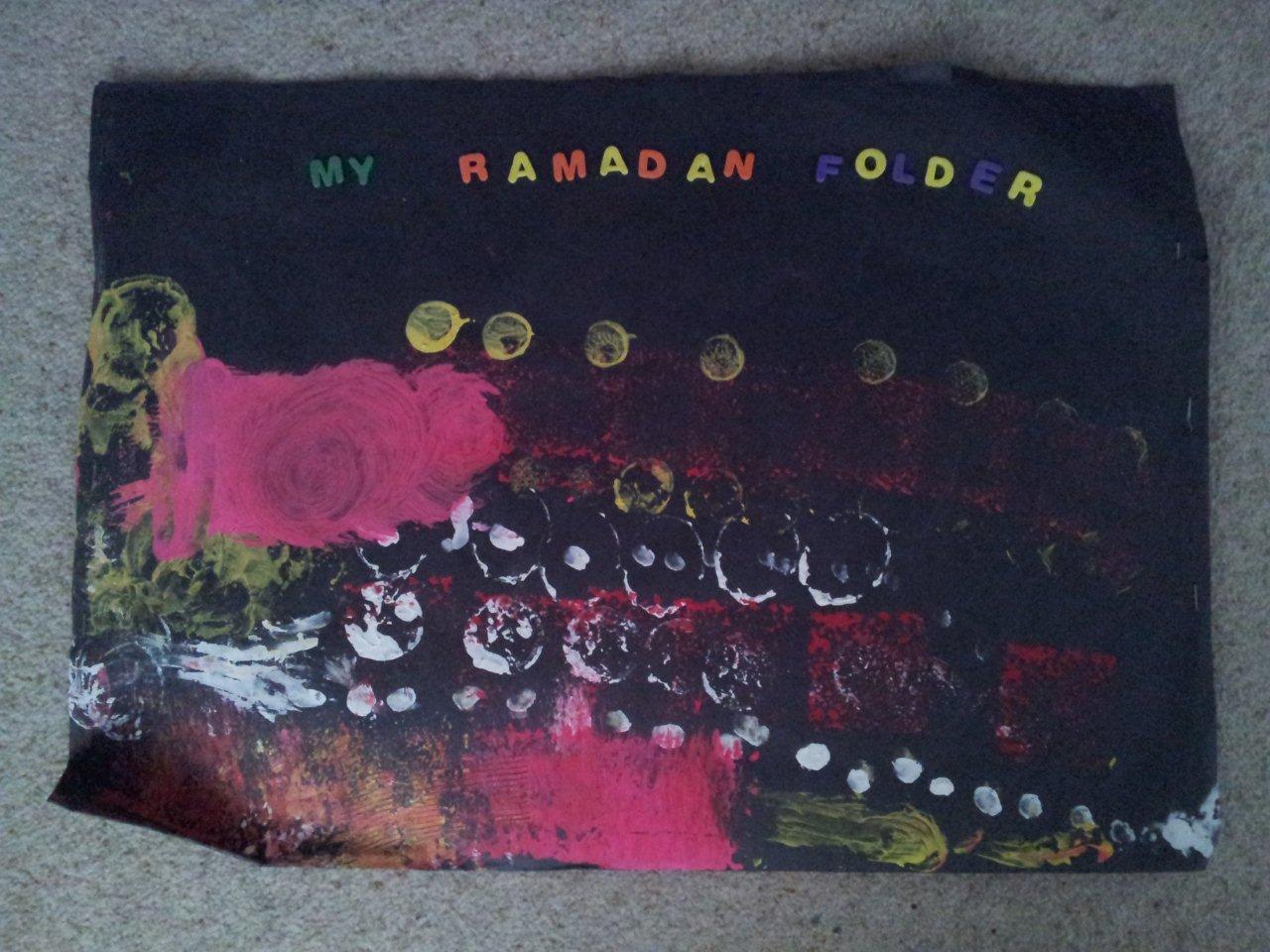 Ramadan Idea 7: Create a Ramadan Art Folder or Scrapbook