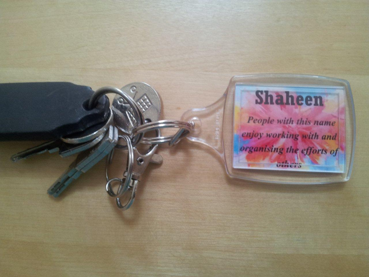 Thoughtful Gift Ideas 4: Personalised Key Ring with a Dua