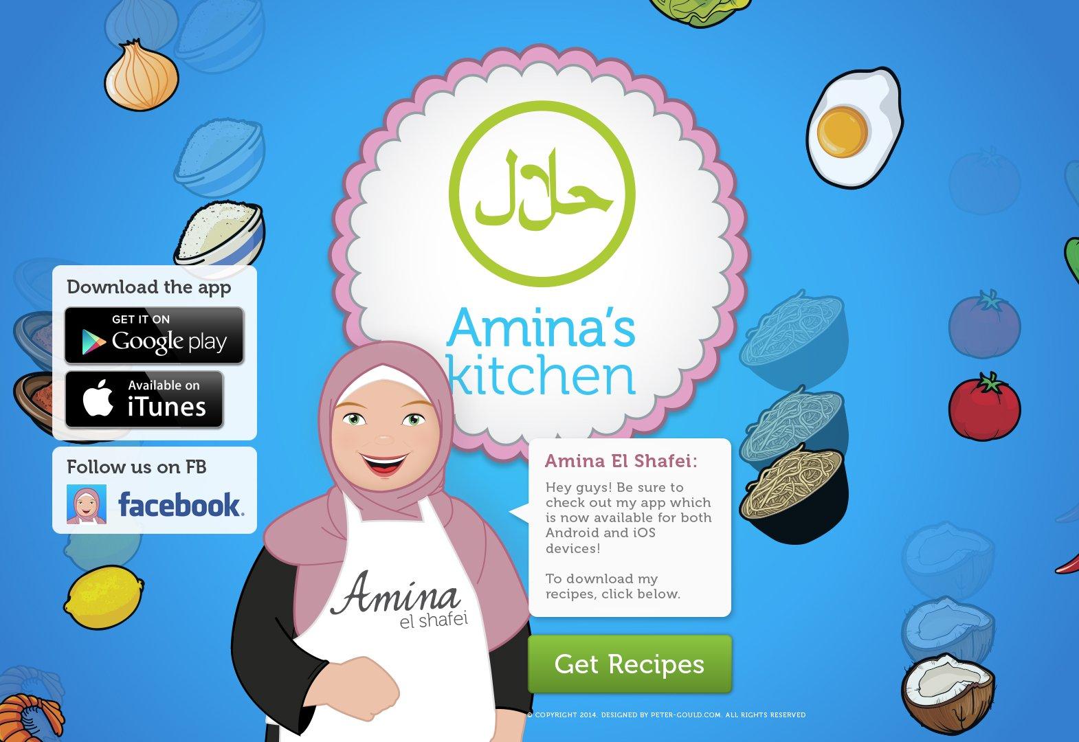 App 16 – Amina's Kitchen App