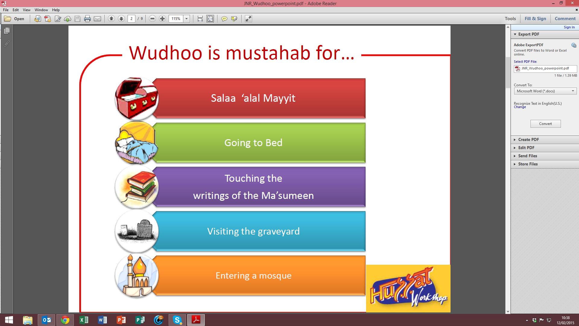 Wudhu Series – Idea 5: This powerpoint presentation