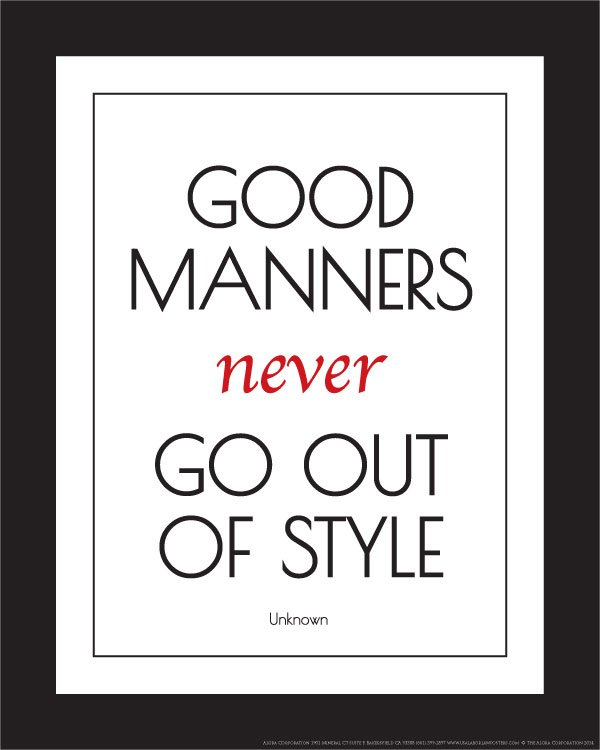 Five tips for teaching our children manners