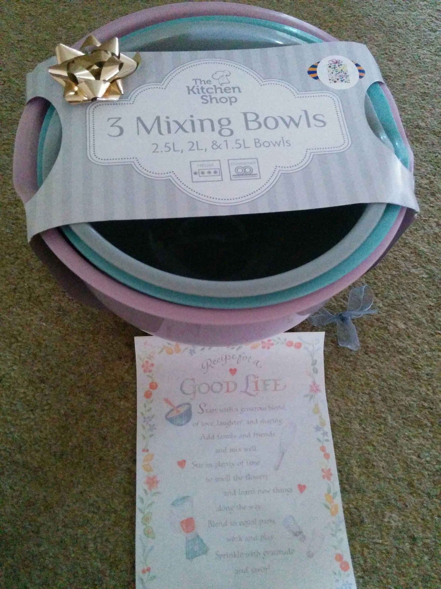 Thoughtful Gift Ideas 19: Mixing Bowl with a Recipe for a Good Life!