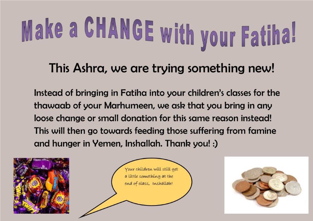 Thoughts on 'fatiha' in majalis…