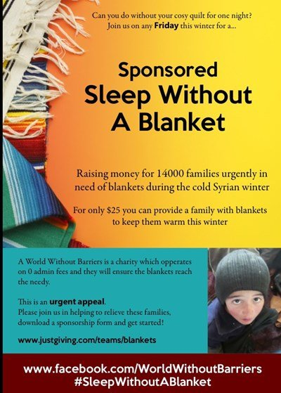 Fundraising Idea 23: Sponsored Sleep without a Blanket