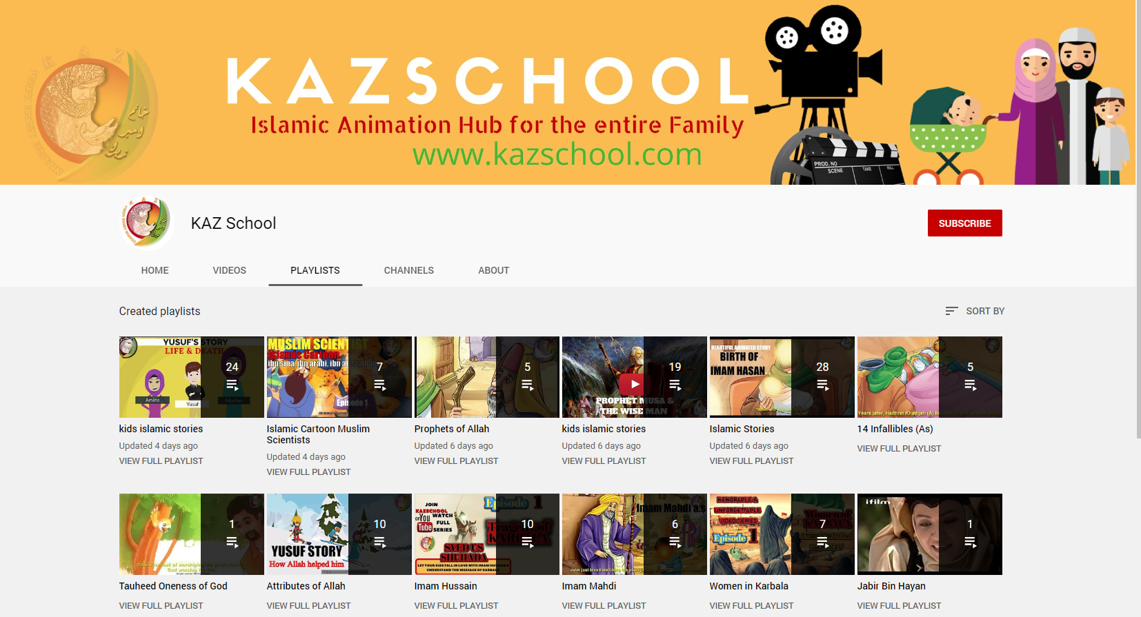 Muslim TV programmes/movies/channels – Idea 15: KAZ School